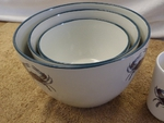 CS10275.CRB - Cabin Series 3pc Blue Crab Serving/Mixing Bowl Set CS10275.CRB
