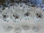 GP10123.PINE - 19oz. Tulip Elegance Pine Cone Wine Glasses (Set of 4) GP10123.PINE