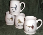 GP10262.FLYA - Dry Flies Series 16oz. White Bell Mug (4 mug set) GP10262.FLYA