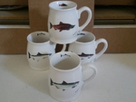 GP10262.SALA - Salmon Series 16oz. White Bell Mug (4 Mug Set) GP10262.SALA