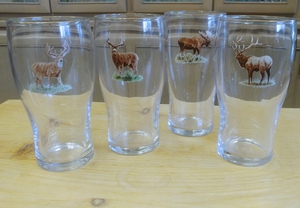 GP10319.BGMB - 20oz Big Game Animal Series Conical Schooner Pub Glass (Set of 4) GP10319.BGMB
