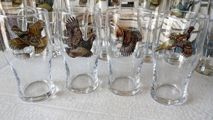 GP10319.UPLA - 19oz Upland Gamebird Series Conical Schooner Pub Glass (Set of 4) GP10319.UPLA