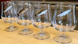 GP10323.SLTA - 16oz. The Snifter Belgium Craft  - Saltwater Fish Series (Set of 4) GP10323.SLTA
