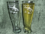 GP421.BNF - Bonefish Pilsner Glasses 16 oz. - Sand Carved - Set of 2 GP421.BNF