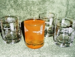 GP428.FLYAW - Round Dimpled Hi-Ball Glasses - Sand Carved - Dry Flies Wrap  (Set of 4) GP428.FLYAW