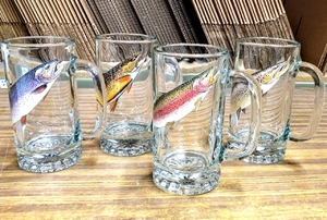 GP810.TRTA - Classic Tankard Stein (Set of 4) Freshwater Trout  Series GP810.TRTA