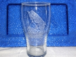 GP10319E.TRP - 20oz Sand Carved Tarpon Conical Schooner Pub Glass (Set of 4) GP10319E.TRP