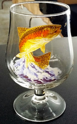 GP10323.JTRT - 16oz. The Snifter Belgium Craft  - Jumping Trout (Set of 4) GP10323.JTRT