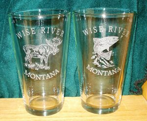 GW450.CUSTOM - Sand Carved - Etched - Tapered Pint Glass GW450.Custom