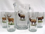 GP829.BGMB Big Game Animal Series  Pitcher and Pint Glasses (5 pc set) GP829.BGMB