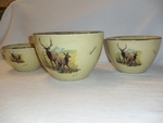 LC10277.LEC - Lodge Collection Landscape Elk Couple 3pc Serving/Mixing Bowl Set LC10277.LEC