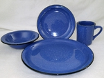 RP10326.Zblank- 4pc. Rustic Pioneer Stoneware single place setting - not decorated RP10326.Zblank