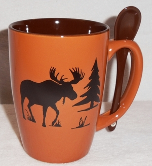 SB10301.MOSS - Terracotta Rust with Moose Silhouette SB10301_MOSS