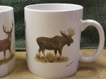 SM114.BGM - Big Game Animal Series (Moose, Elk and Deer) Super Sized White 30oz. Mega Mug SM114.BGM