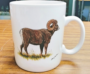 SM114.BHS - Big Horn Sheep Super Sized White 30oz. Mega Mug SM114.BHS