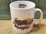 SM114.LMW - Scenic Moose Super Sized White 30oz. Mega Mug SM114.LMW