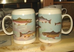 GP111.TRTW - 22 oz. Stoneware Stein - Trout Scenic Wrap (2 pc set) GP111.TRTW