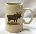 SS111.MOSB - 22 oz. Stoneware Stein - Standing Moose SS111.MOSB