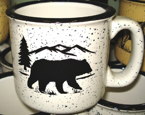 TM10178.BERS - 15oz White Trail Mug - Bear and Mountain Silhouette TM10178.BERS