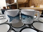 TM10178.BLU - 15oz White Trail Mug - Bluefish TM10178.BLU