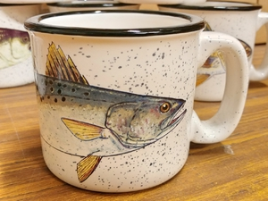 TM10178.SEAT - 15oz White Trail Mug - Sea Trout TM10178.SEAT