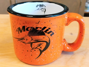 TM10341.MARS - 15oz Bright Orange Trail Mug - Marlin Silhouette TM10341.MARS