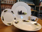WR10338.LBF - Rustic Wildlife Wide Rim 16pc Dinnerware set - Bear and Cubs WR10338.LBF