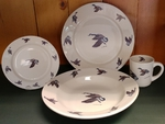 WR10338.WFLA - Rustic Wildlife Wide Rim 16pc Dinnerware set - Waterfowl Series WR10338.WFLA