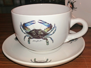 2pc  Crab Soup Cup and Saucer Set WW10112.CRB
