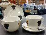 Whiteware Soup Cup and Saucer Set - Lab Head Series (2pc Set) WW10112.LABA