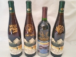 Engraved Wine Bottles Painted in Gold GWCustom.WineBottles