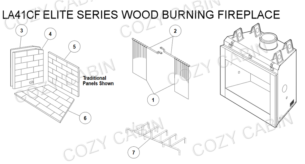 Elite Series Wood Burning Fireplace (LA41CF) #LA41CF