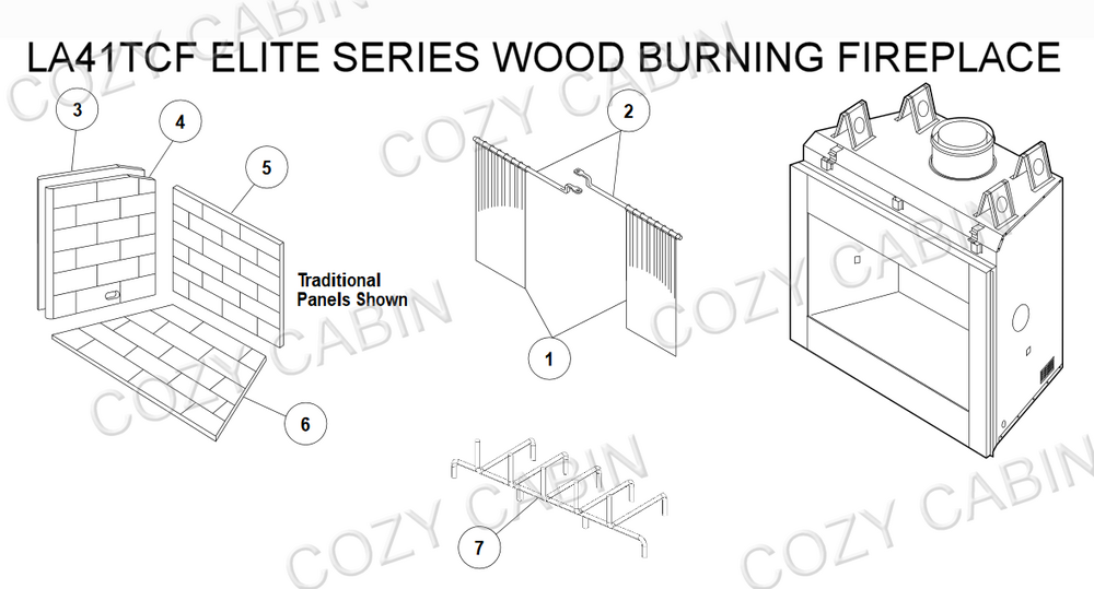 Elite Series Wood Burning Fireplace (LA41TCF) #LA41TCF