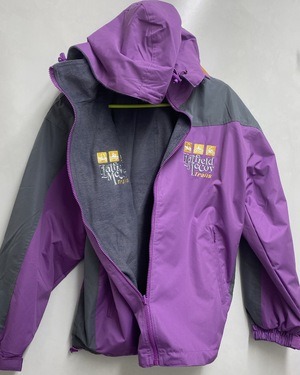 Purple & Gray Water Resistant Reversable Jacket 219