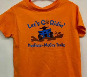 Let's Go Ridin' Orange T-Shirt 324