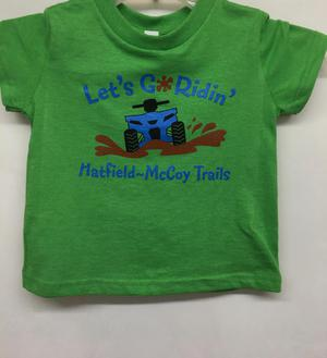 Let's Go Ridin' Green T-Shirt 325