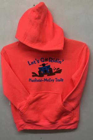 Let's Go Ridin' Hoodie Orange 312