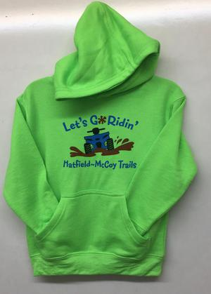 Let's Go Ridin' Hoodie Green 313