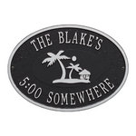Island Time Palm Plaque 5808