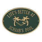 Swimming Pool Plaque 5807