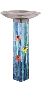 Studio M Mosaic Watercolor Bird Bath 6015