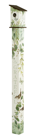 Studio M 6' Eucalyptus Birdhouse Art Pole 6020