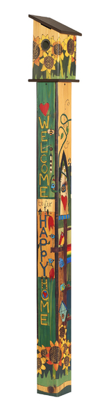 Studio M 6' Sing Out Loud Birdhouse Art Pole 6019