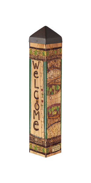 """Studio M 20"""" Welcome Blessings Art Pole 7064"""