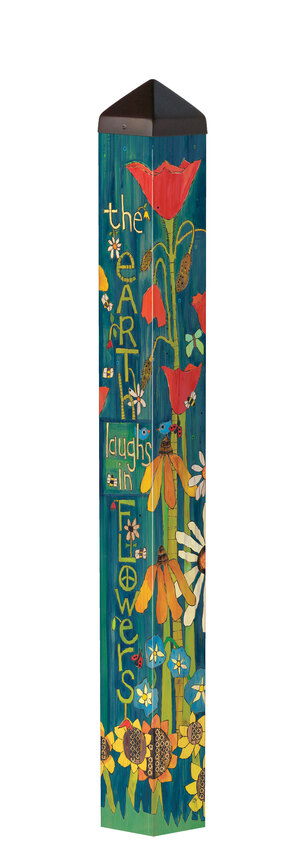 "Studio M 40"" Earth Laughs In Flowers Art Pole PL1240"