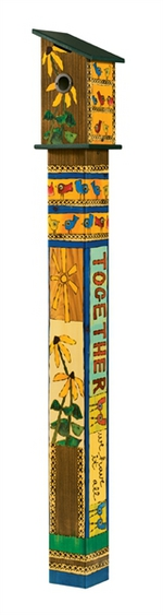 Studio M 5' Friends Forever Birdhouse Art Pole 5892