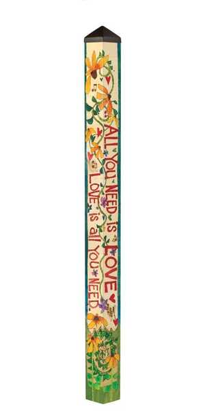 Studio M The Lyric Project 6' All You Need is Love Art Pole 5788
