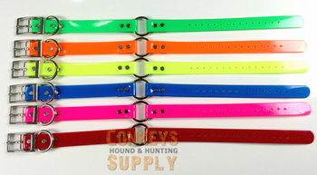 "18"" Day Glo Collar with D Ring & Center Ring #18Sol"