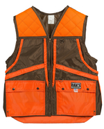 Dan's Briar Game Vest in Brown with Orange Trim 424-BROR