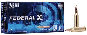 Federal 243 Win Power Shock 100gr 20 Rounds 243winfed